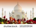 taj mahal in sunset light ... | Shutterstock . vector #101055934