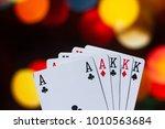 full house poker cards... | Shutterstock . vector #1010563684