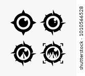 camping logo design  compass...   Shutterstock .eps vector #1010566528