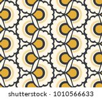 Stock vector seamless retro pattern with floral elements 1010566633