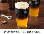 irish layered black and tan... | Shutterstock . vector #1010567308