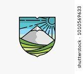 mountain and vineyard logo... | Shutterstock .eps vector #1010569633