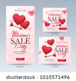 set of stylish sale banners of... | Shutterstock .eps vector #1010571496
