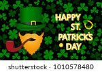 the irishman in a hat and the...   Shutterstock .eps vector #1010578480