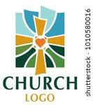 cross logo design illustration... | Shutterstock .eps vector #1010580016