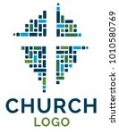 cross logo illustration for... | Shutterstock .eps vector #1010580769