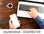close up  male hands holding...   Shutterstock . vector #1010581714