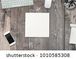 square magazine with blank soft ... | Shutterstock . vector #1010585308