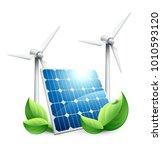 green energy concept | Shutterstock .eps vector #1010593120