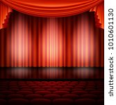 spotlight on stage and red... | Shutterstock .eps vector #1010601130