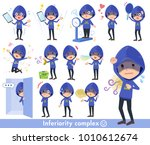 blue parker hacker men_complex | Shutterstock .eps vector #1010612674