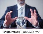 closeup of businessman looking... | Shutterstock . vector #1010616790