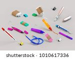 3d rendering of paint and write ... | Shutterstock . vector #1010617336