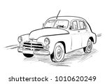 very old car | Shutterstock .eps vector #1010620249