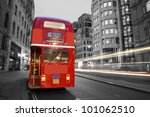 route master bus in the street... | Shutterstock . vector #101062510