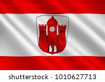 flag of borken is a town and... | Shutterstock . vector #1010627713