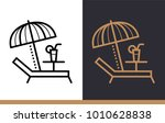 outline icon beach. hotel... | Shutterstock .eps vector #1010628838