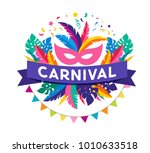 carnival poster  banner with... | Shutterstock .eps vector #1010633518
