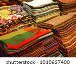indian textiles with floral... | Shutterstock . vector #1010637400
