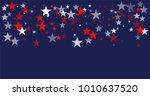 patriotic american stars... | Shutterstock .eps vector #1010637520