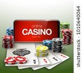 vector online poker casino... | Shutterstock .eps vector #1010640064