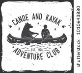 canoe and kayak club. vector... | Shutterstock .eps vector #1010643880