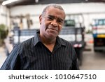 portrait of worker on factory... | Shutterstock . vector #1010647510