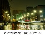 the muffled light makes its way ... | Shutterstock . vector #1010649400