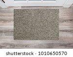 blank beige woolen doormat... | Shutterstock . vector #1010650570