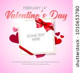 valentine's day abstract... | Shutterstock .eps vector #1010653780