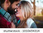 close up of an romantic couple... | Shutterstock . vector #1010654314