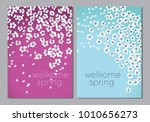 white decorative cherry or... | Shutterstock .eps vector #1010656273