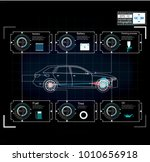 futuristic user interface. hud... | Shutterstock .eps vector #1010656918