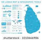 sri lanka map   detailed info... | Shutterstock .eps vector #1010666986