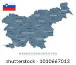 slovenia map and flag   high...   Shutterstock .eps vector #1010667013
