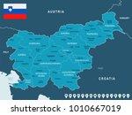 slovenia map and flag   high... | Shutterstock .eps vector #1010667019