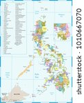 philippines map   high detailed ... | Shutterstock .eps vector #1010667070