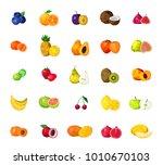 fresh tropical fruits berries... | Shutterstock . vector #1010670103