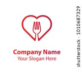 love food logo design  food... | Shutterstock .eps vector #1010687329