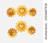 the sign of the relationship... | Shutterstock .eps vector #1010687518