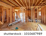 what is now a construction site ... | Shutterstock . vector #1010687989