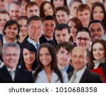 crowd of a business people. | Shutterstock . vector #1010688358