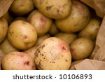 Potatoes Isolated On White...