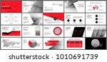 red presentation templates... | Shutterstock .eps vector #1010691739