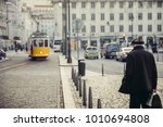 old pensioner waiting the... | Shutterstock . vector #1010694808