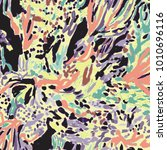 abstract animal skin pattern | Shutterstock .eps vector #1010696116