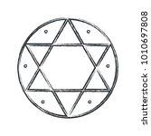 vector magical symbol  hexagram ...   Shutterstock .eps vector #1010697808