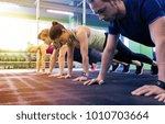 fitness  sport  exercising ... | Shutterstock . vector #1010703664