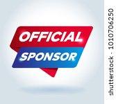 official sponsor arrow tag sign. | Shutterstock .eps vector #1010706250