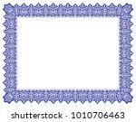 floral ornament frame   border... | Shutterstock .eps vector #1010706463